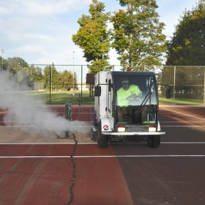 Wash truck - tennis courts
