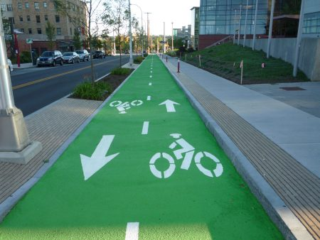 Color-Safe Syracuse Bike Lane Photo