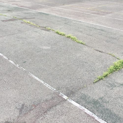 Faded Court Lines