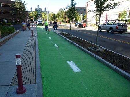 Syracuse_Green Bike Lane_Symbol apllication_Aug 2012 017