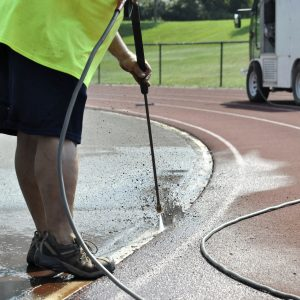 Drain cleaning with pressure washer