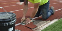 Use a straight edge to trim bad track surface