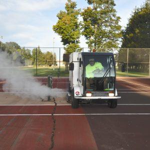 Wash truck - tennis courts