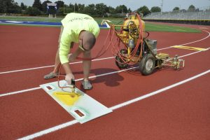 Re-striping and marking